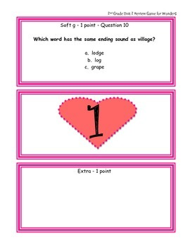 2nd Grade Unit 2 Review Game for Wonders