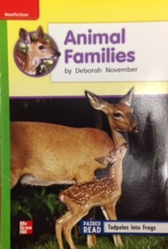 2nd Grade Wonders Unit 2 Week 4 Beyond Response - Animal Families