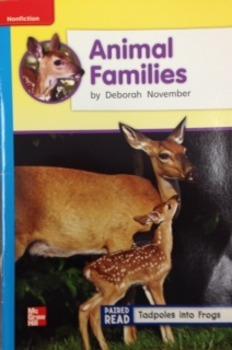 2nd Grade Wonders Unit 2 Week 4 On Level Response - Animal Families