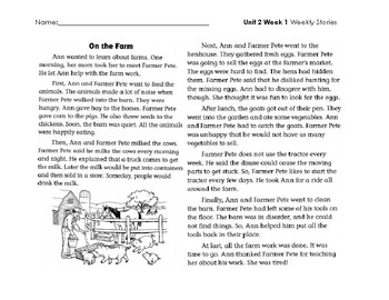 2nd Grade Wonders Unit 2 Weekly Stories