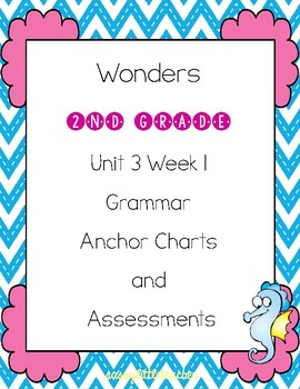 2nd Grade Wonders Unit 3 Week 1 Grammar Charts and Assessments