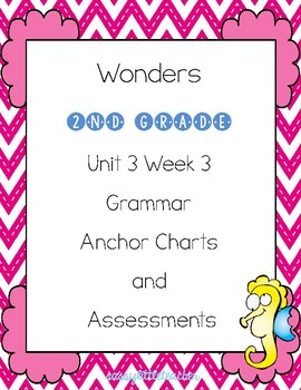 2nd Grade Wonders Unit 3 Week 3 Grammar Charts and Assessments