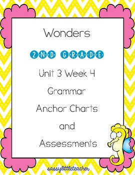 2nd Grade Wonders Unit 3 Week 4 Grammar Charts and Assessments