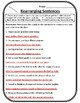 2nd Grade Wonders Unit 3 Week 5 Grammar Second Wonders 3.5 Rearranging Sentences