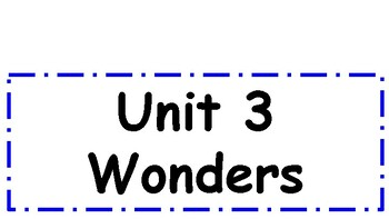 2nd Grade Wonders Unit 3 Weekly Focus Wall Signs