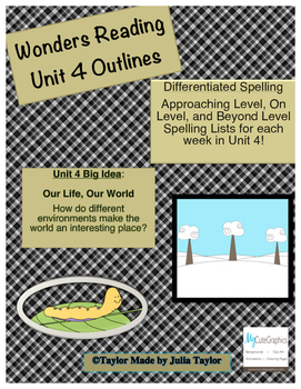 2nd Grade Wonders Unit 4 Differentiated Outlines