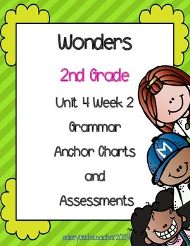 2nd Grade Wonders Unit 4 Week 2 Grammar Charts and Assessments
