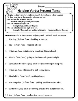 2nd Grade Wonders Unit 4 Week 2 Grammar Second Wonders 4.2 Helping Verbs ALL