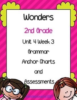 2nd Grade Wonders Unit 4 Week 3 Grammar Charts and Assessments