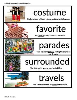 2nd Grade Wonders Unit 4 Week 3 Vocabulary