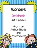 2nd Grade Wonders Unit 4 Week 5 Grammar Charts and Assessments
