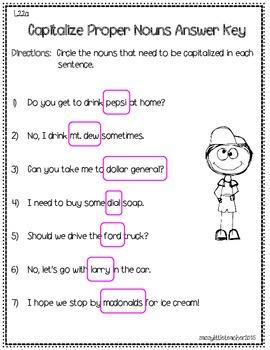 2nd Grade Wonders Unit 5 Week 3 Grammar Charts and Assessments