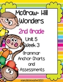 2nd Grade Wonders Unit 5 Week 3 Grammar Charts and Assessments