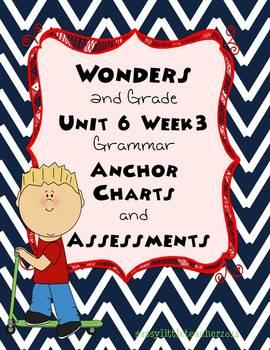 2nd Grade Wonders Unit 6 Week 3 Grammar Charts and Assessments
