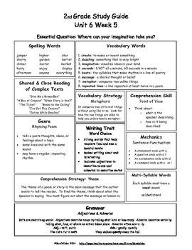 2nd Grade Wonders Unit 6 Week 5