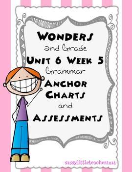 2nd Grade Wonders Unit 6 Week 5 Grammar Charts and Assessments