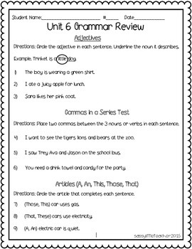 2nd Grade Wonders Unit 6 Week 6 Assessments