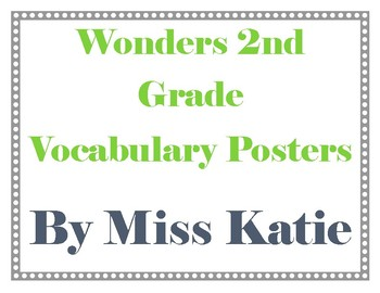 2nd Grade Wonders Vocabulary Posters