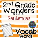 2nd Grade Wonders Vocabulary - Sentences UNITS 1-6