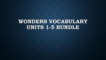2nd Grade Wonders Vocabulary (UNITS 1-5 BUNDLE)