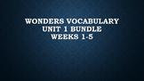 2nd Grade Wonders Vocabulary (Unit 1 Bundle)