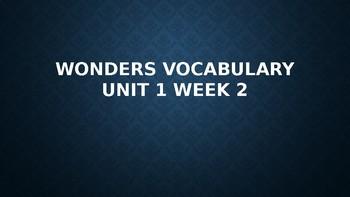 2nd Grade Wonders Vocabulary (Unit 1 Week 2)