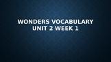 2nd Grade Wonders Vocabulary (Unit 2 Week 1)