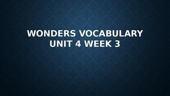 2nd Grade Wonders Vocabulary (Unit 4 Week 3)