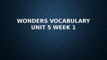 2nd Grade Wonders Vocabulary (Unit 5 Week 1)