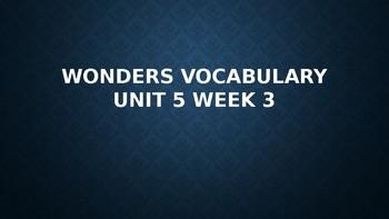 2nd Grade Wonders Vocabulary (Unit 5 Week 3)