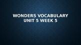 2nd Grade Wonders Vocabulary (Unit 5 Week 5)