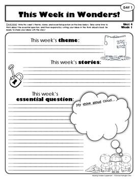 2nd Grade Reading Wonders Weekly Interactive Journal - UNIT 4 BUNDLE