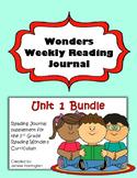 2nd Grade Reading Wonders Weekly Interactive Journal - UNIT 1 BUNDLE