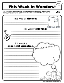 2nd Grade Reading Wonders Weekly Interactive Journal - UNIT 1 BUNDLE
