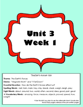 2nd Grade Reading Wonders Weekly Interactive Journal - UNIT 3 BUNDLE