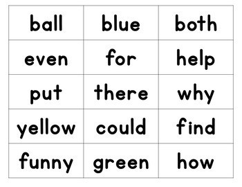 2nd Grade Word Wall cards