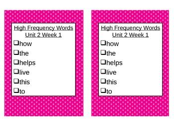 2nd Grade Wonderworks Intervention High Frequency Words