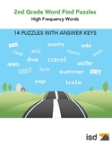 2nd Grade Word Find Puzzles (High Frequency Words) - 14 Pu