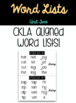 2nd Grade Word Lists - CKLA