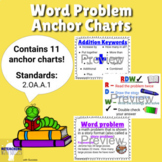 2nd Grade Word Problem Anchor Charts 2.OA.1 (Distance Learning)