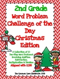 2nd Grade Word Problem Challenge Packet *Christmas Edition* 10 Two-Step Problems