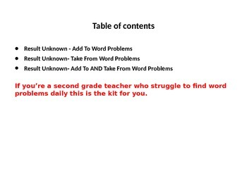 2nd Grade Word Problem ccss