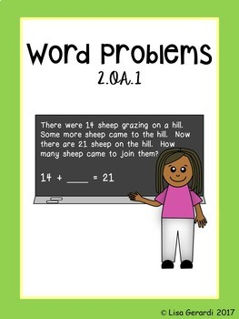 2nd Grade Word Problems 2.OA.1 - Practice Pages, Assessments, Parent Help Sheets