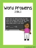 2nd Grade Word Problems 2.OA.1 - Practice Pages, Assessmen
