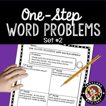 2nd Grade Word Problems SET 2- Close Reading!