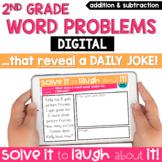 2nd Grade Word Problems | Digital Word Problems | Joke of
