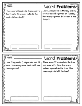 2nd Grade Word Problems Set #2
