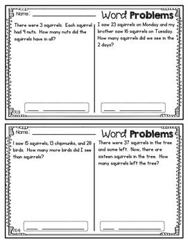 2nd Grade Word Problems Set #2