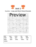 2nd Grade Word Search Units 3-42 ~ Aligns with Letterland