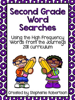 2nd Grade Word Searches with High Frequency Words from the